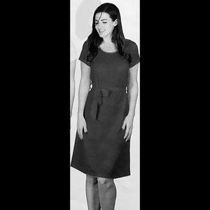 DKR Crepe Short Sleeve Dress with Belt